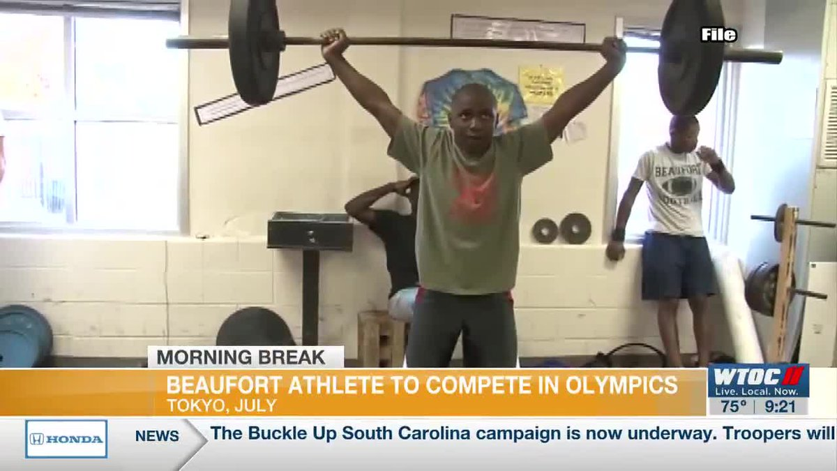 Beaufort weightlifter to compete in Olympics