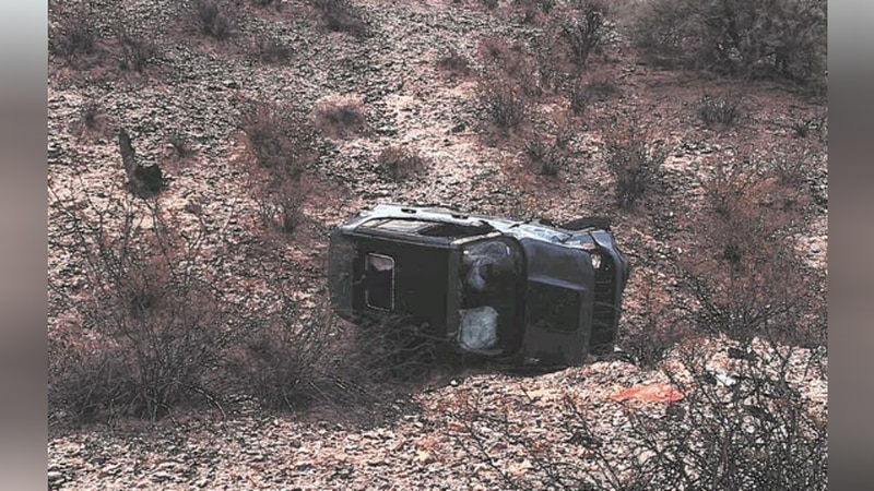 This is how Daniel Robinson's Jeep was found July 21.