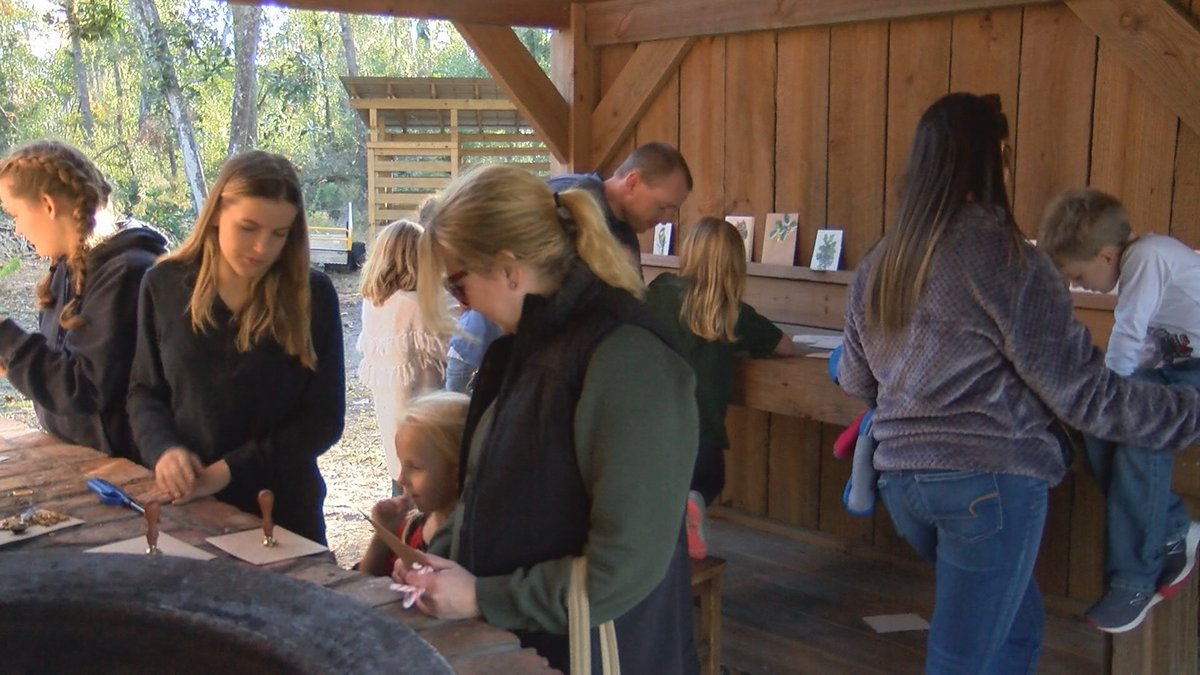Families gather to learn about old holiday traditions.