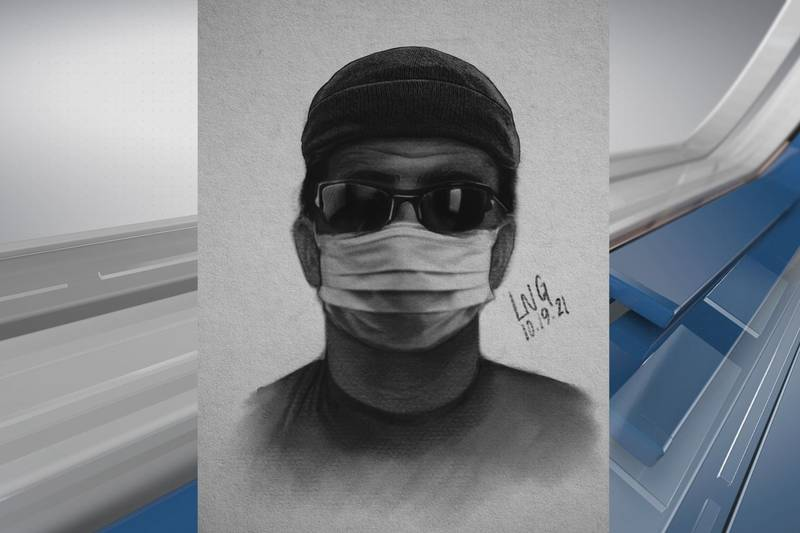 A sketch of a suspect involved in an abduction and armed robbery in Sun City.