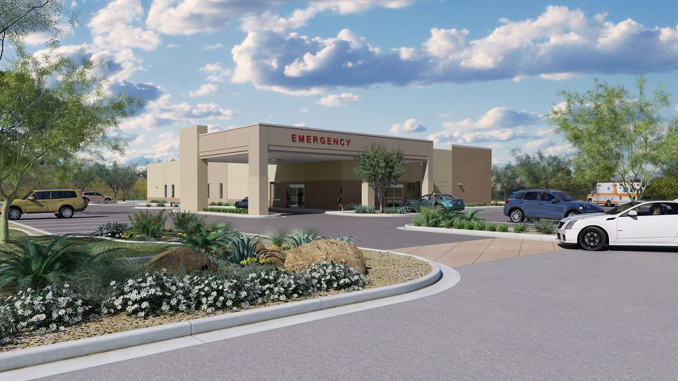 A rendering of the proposed Emergency Room facility coming to Pooler and Richmond Hill.