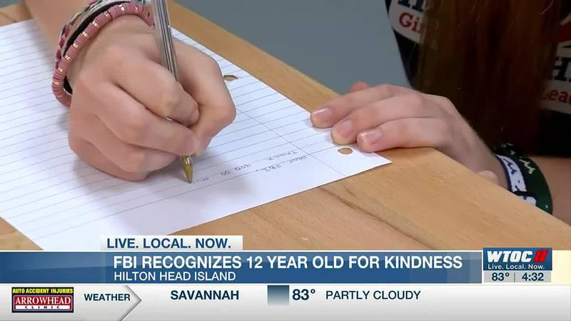 FBI recognizes Hilton Head girl for kindness