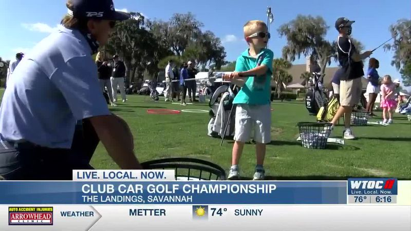 Nearly 50 young golfers got a chance to learn from the pros of the Korn Ferry Tour at Monday's...