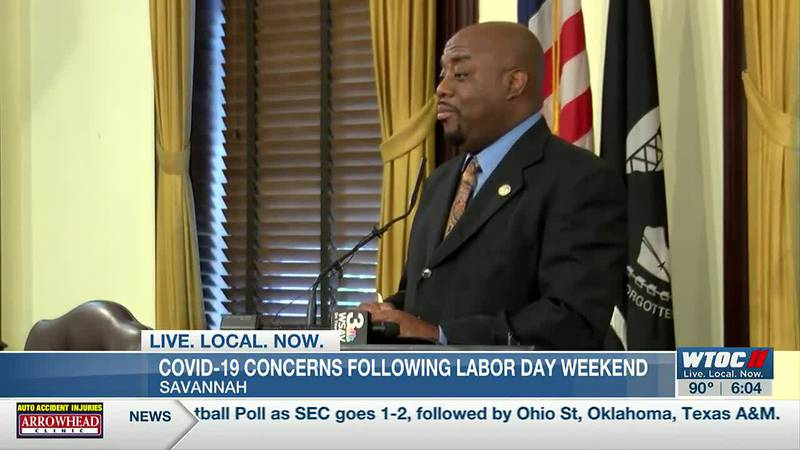 Savannah mayor concerned by Labor Day crowds not wearing masks
