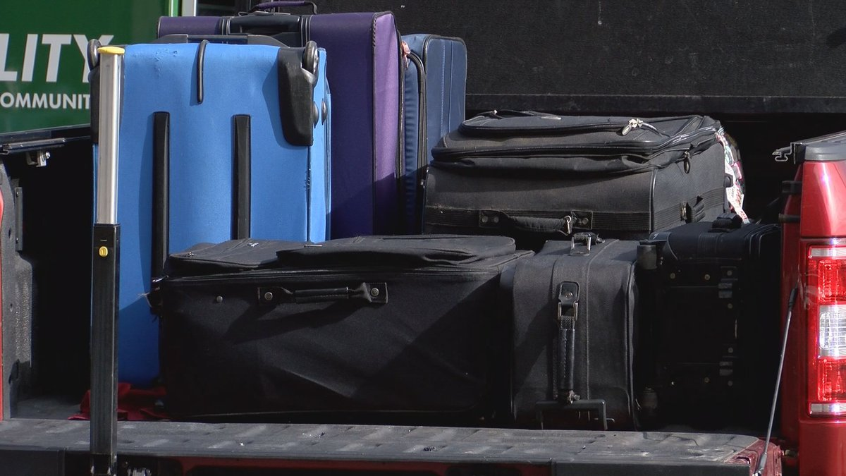 People in Savannah loaded suitcases into their cars today to help children in need during the...