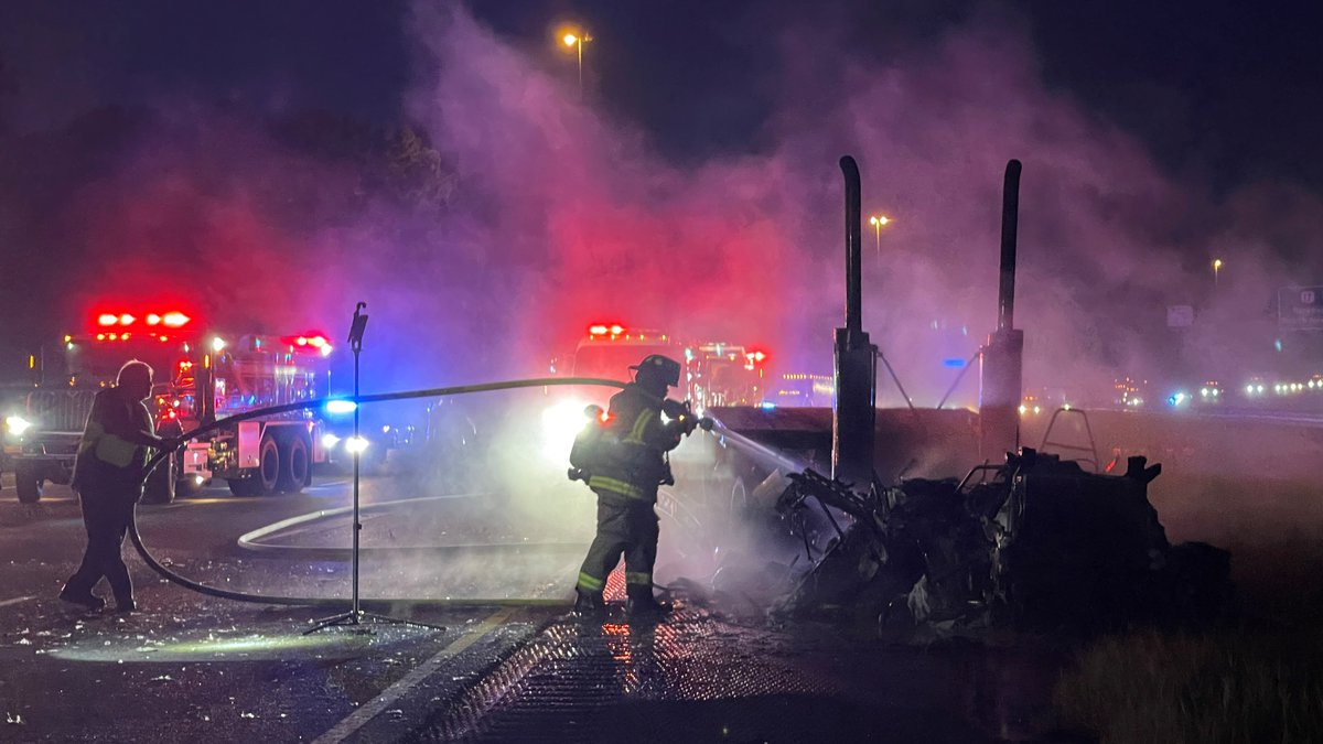 I-95 crash, fire causing delays Tuesday morning in Liberty County.