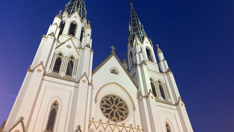 The Cathedral of St. John the Baptist in downtown Savannah.