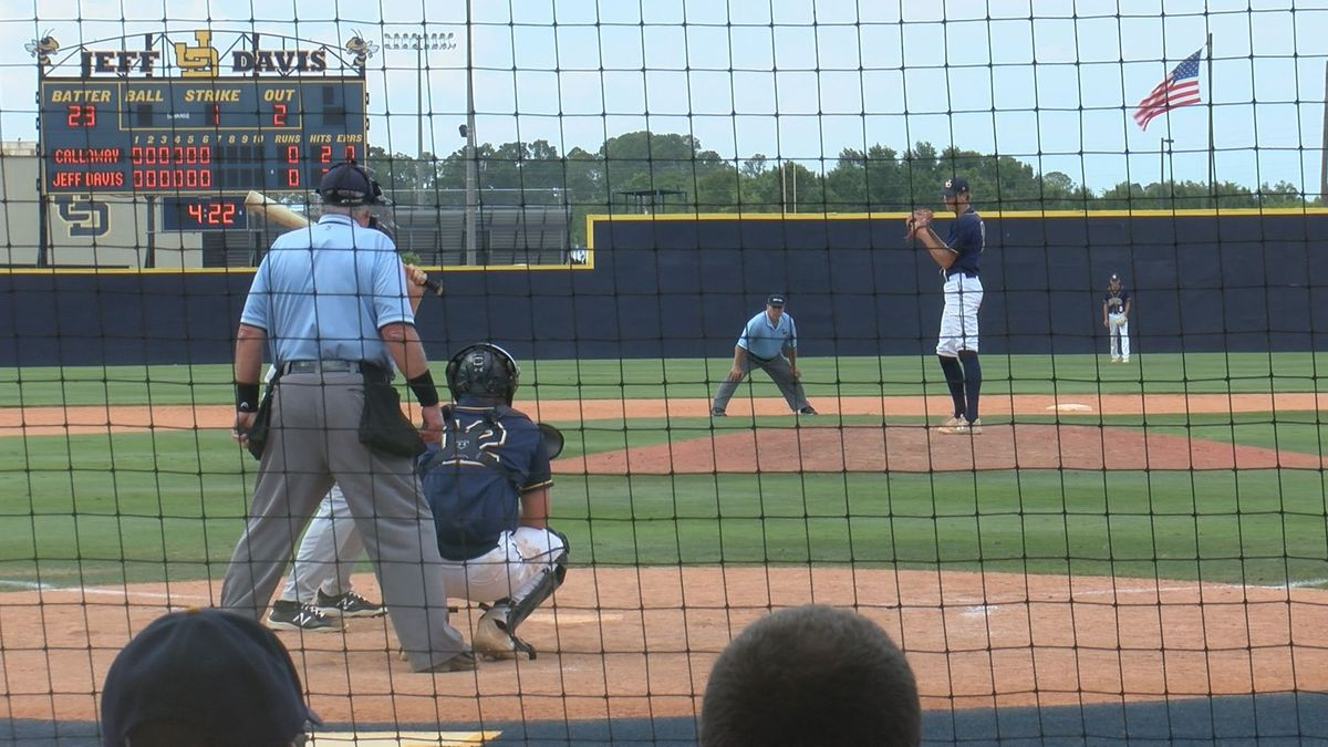 Jeff Davis freshman pitcher, Duke Stone, tossed a three-hit shutout and struck out seven in the...