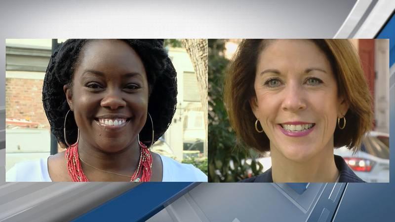 (L) Shalena Cook Jones, (R) Incumbent Meg Heap.