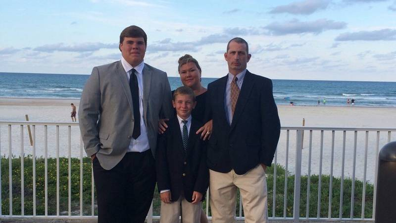 Daniel McLeod and his family