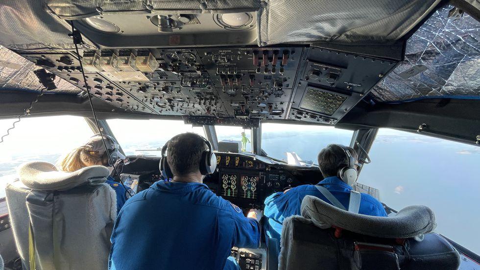 Test pilots Lt Cmdr Becky Shaw and Lt Cmdr Adam Abitbo