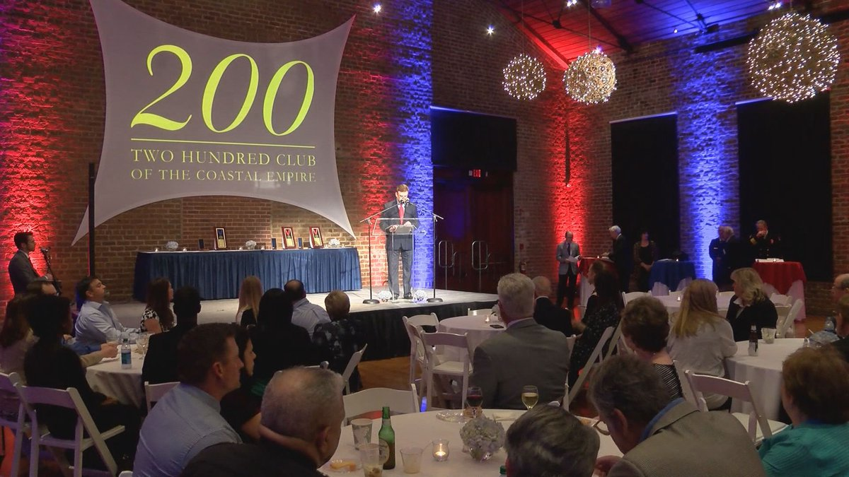 The Valor Awards banquet hosted by the Two Hundred Club of the Coastal Empire.