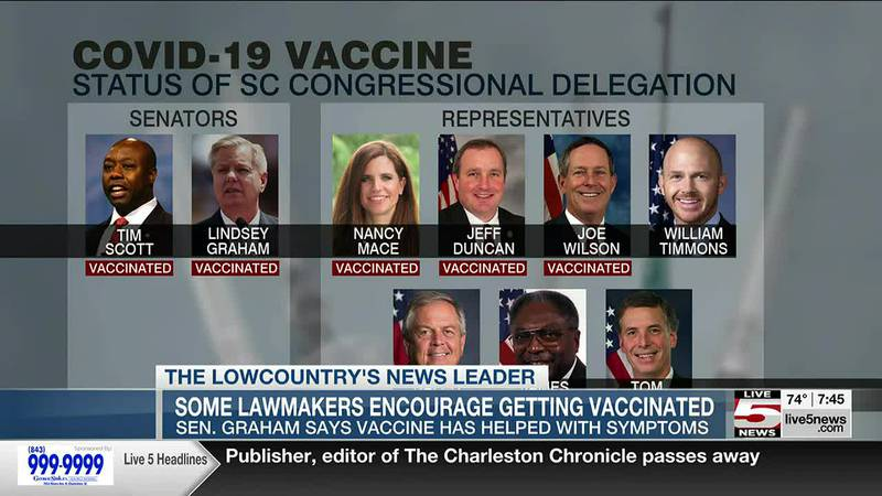 Some South Carolina lawmakers encourage vaccination