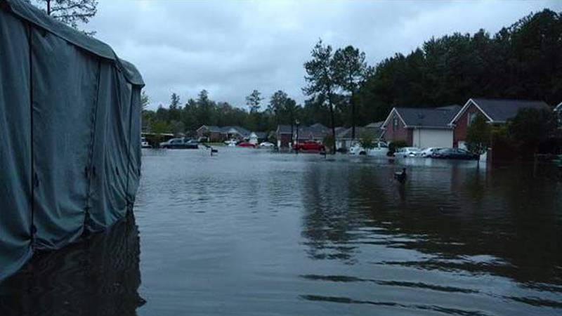 These scenes of flooding and destruction were submitted by viewers in the Coastal Empire and...