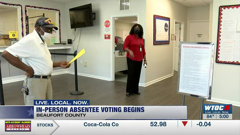 Low turnout on first day of in-person absentee voting in Beaufort Co.
