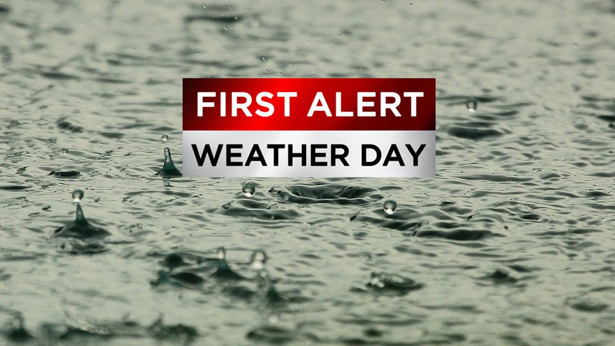 Rainy First Alert Weather Day.