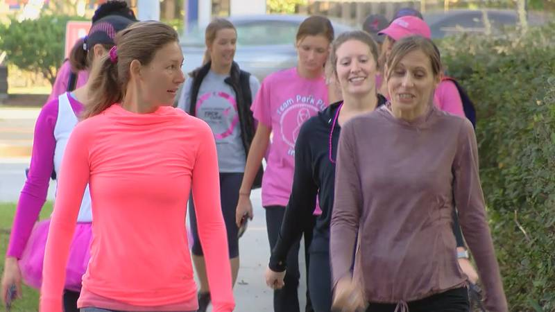 These women took to Daffin Park to do their walk.