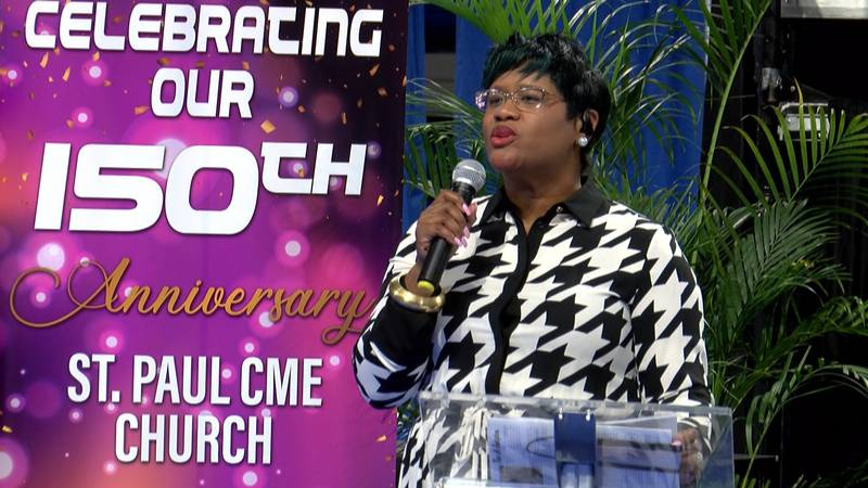 Sister Dynesha Reeves gives a historical reflection on the churches 150 year history in the...