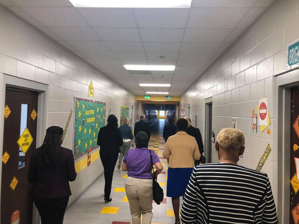 Georgia State Superintendent visits SCCPSS School with special honor