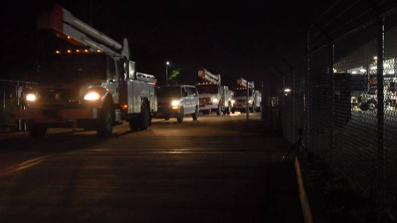 Georgia Power crews leaving for Hartford, Conn. to help with power restoration following...