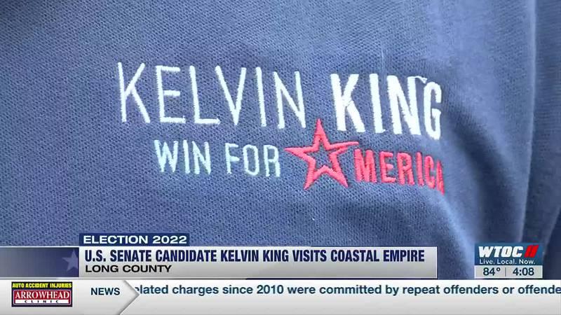 Senate candidate Kelvin King making stops in Georgia counties
