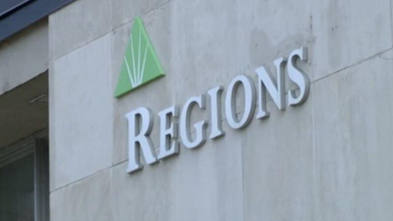 Regions Bank Sign.