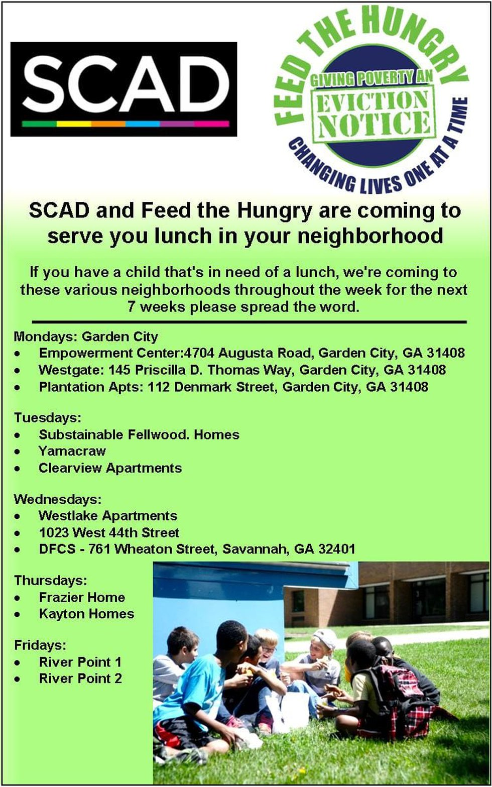 SCAD and FTH providing meal to children