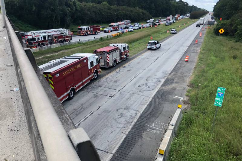 An accident on Wednesday shut down the eastbound lanes of I-16. Chatham Emergency Management...