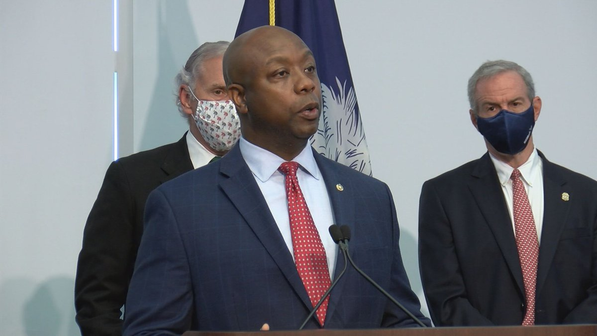 Tim Scott was in North Charleston on Monday to talk about his JUSTICE Act.