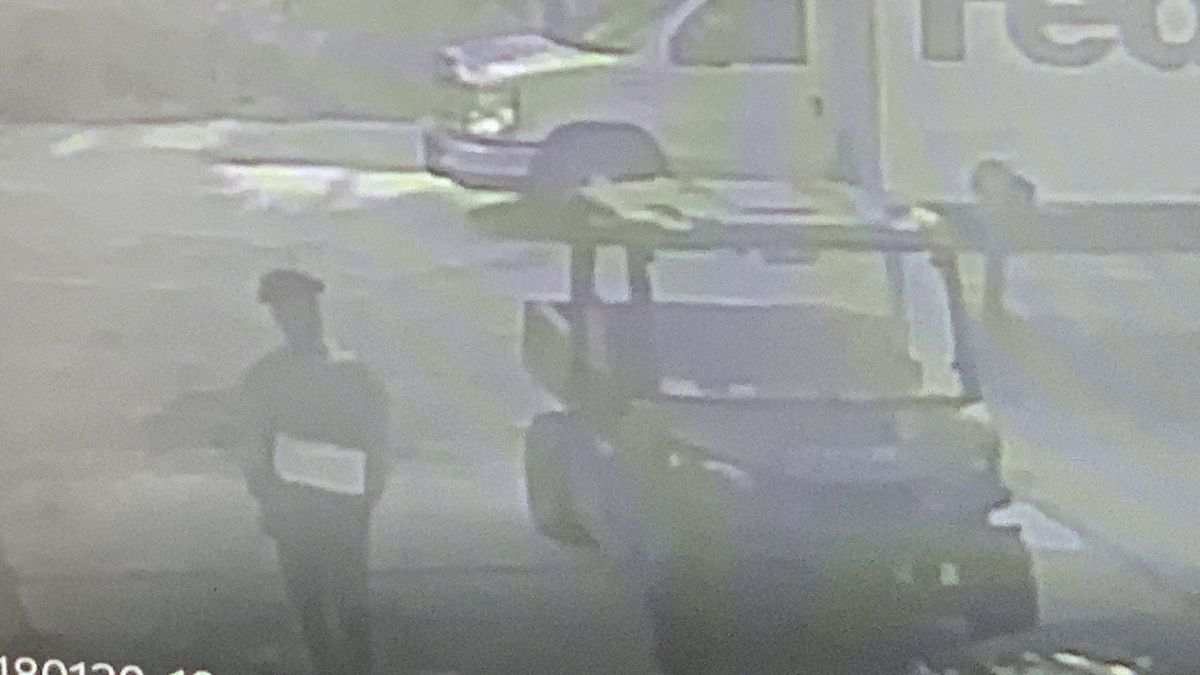 The teenager in the surveillance video is accused of stealing a pistol from the golf cart.