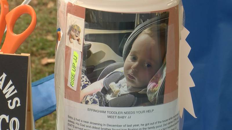 A Guyton hair salon held a cut-a-thon on Sunday to raise money for Baby JJ.