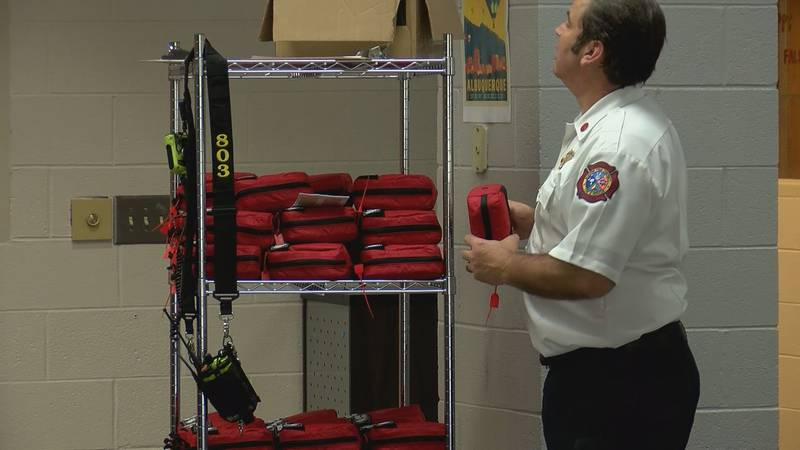 The Burton Fire District putting potentially life-saving Jacob Kits into the eighth and final...