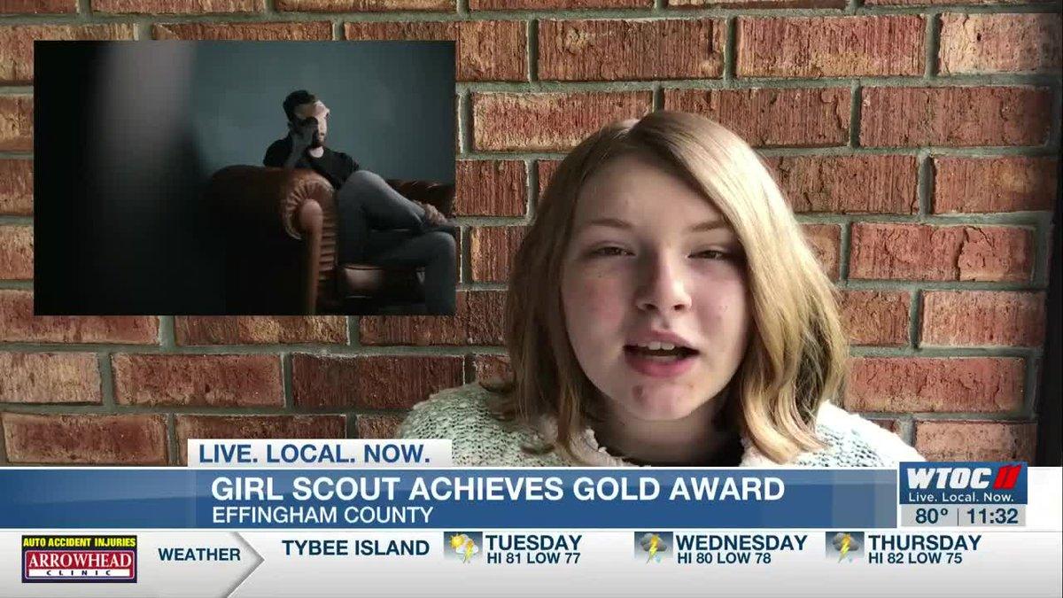 South Effingham senior earns prestigious Girl Scout award