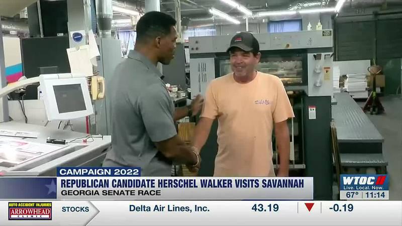 Herschel Walker visits Savannah while campaigning for Ga. Senate race