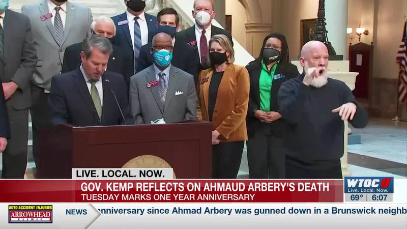 Gov. Kemp reflects on Ahmaud Arbery's death, promises changes in Georgia