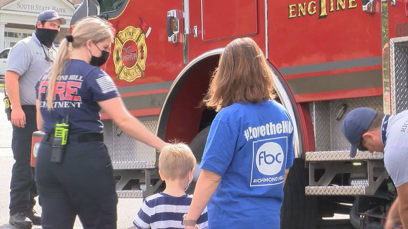 A Richmond Hill church is marking the 20th anniversary of 9/11 by honoring first responders.