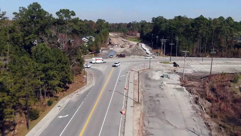 Benton Boulevard and Highlands Boulevard in the Savannah Highlands Community..