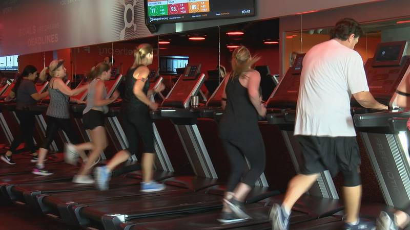 A workout at Orange Theory Fitness in Savannah.