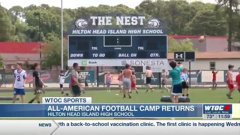 All-American Football Camp returns to HHIHS after one year off due to COVID-19