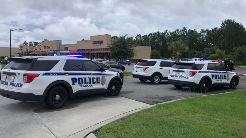 Pooler Police on the scene of a shooting near Towne Center Boulevard.