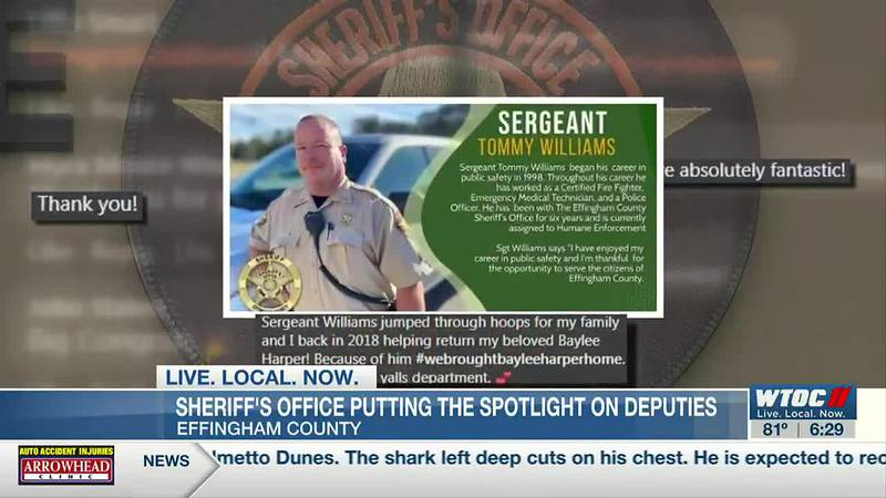 Effingham Co. Sheriff's Office uses social media to put the spotlight on deputies