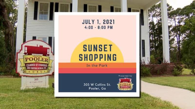 Sunset Shopping in Pooler, Ga.