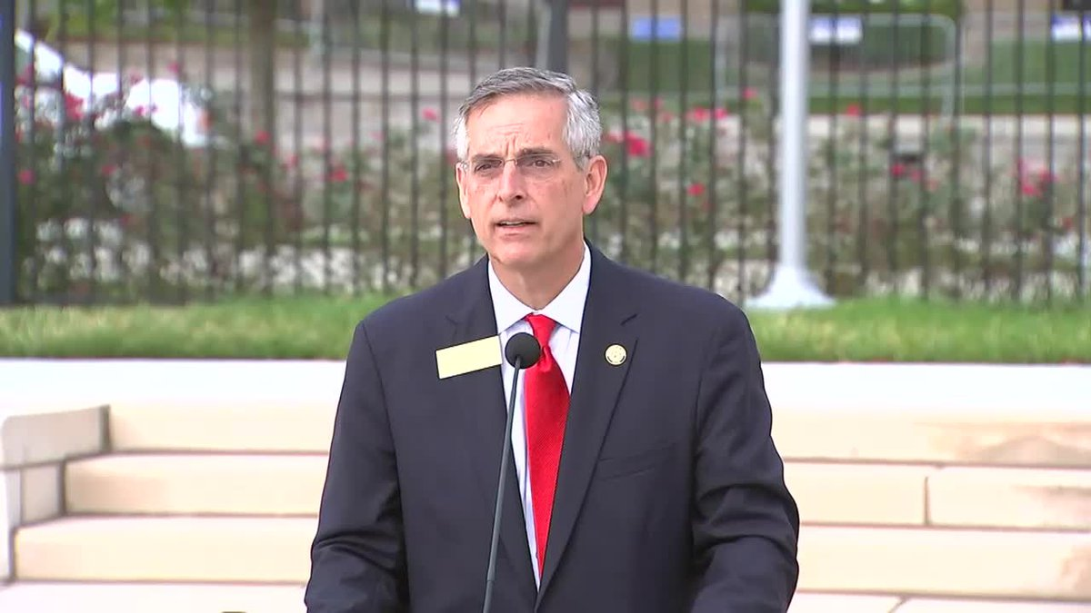 Georgia Secretary of State Brad Raffensperger responds to a question on the intent of people...