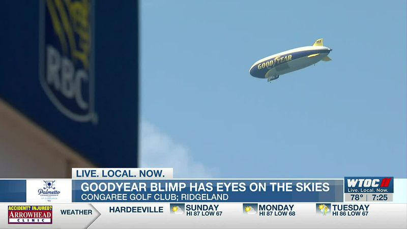 Goodyear Blimp flies over the S.C. Lowcountry for the Palmetto Championship