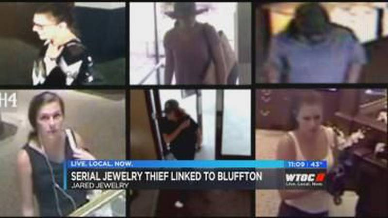 Suspected serial jewelry thief linked to Bluffton store