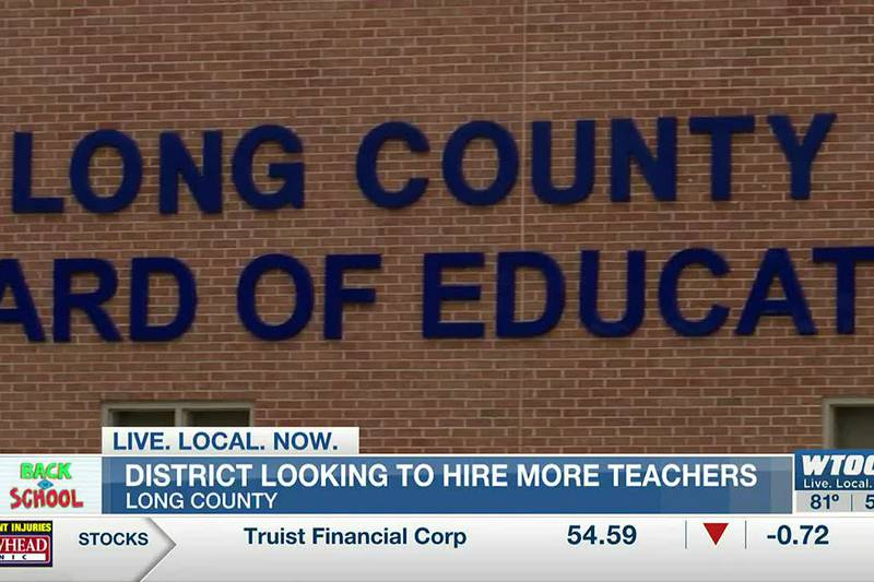Long County School System hoping to hire more teachers as new year begins