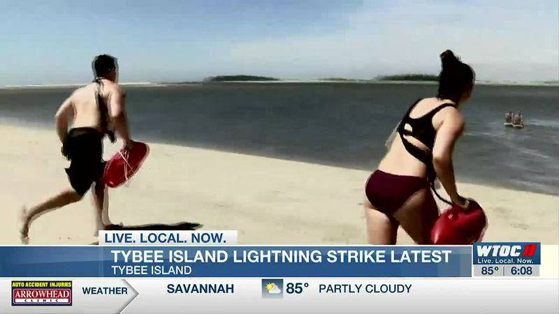 UPDATE: 15-year-old girl dies after being struck by lightning off Tybee Island