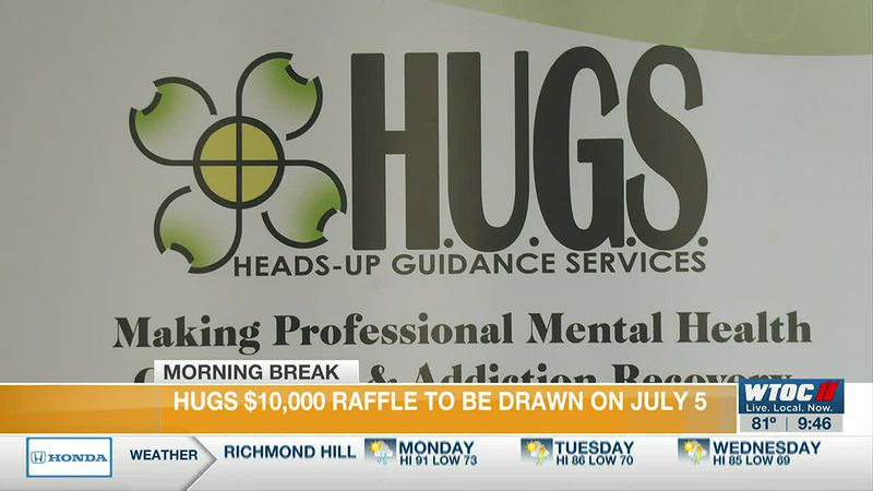 Heads-Up Guidance Services selling raffle tickets for drawing July 5