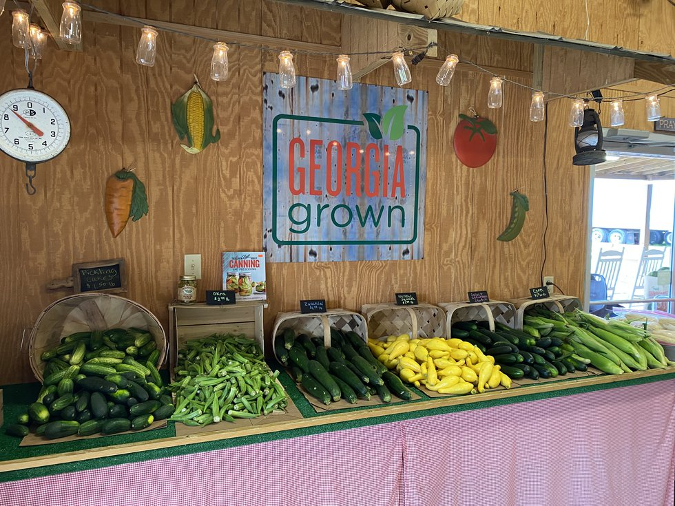 The Poppell's sell more than just their own produce, they have other farmer's vegetables too!