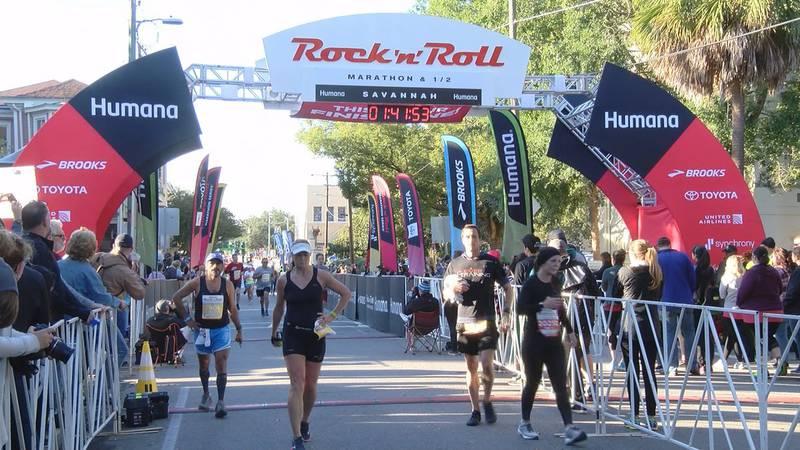 FILE - 2018 Rock 'n' Roll Marathon in Savannah.